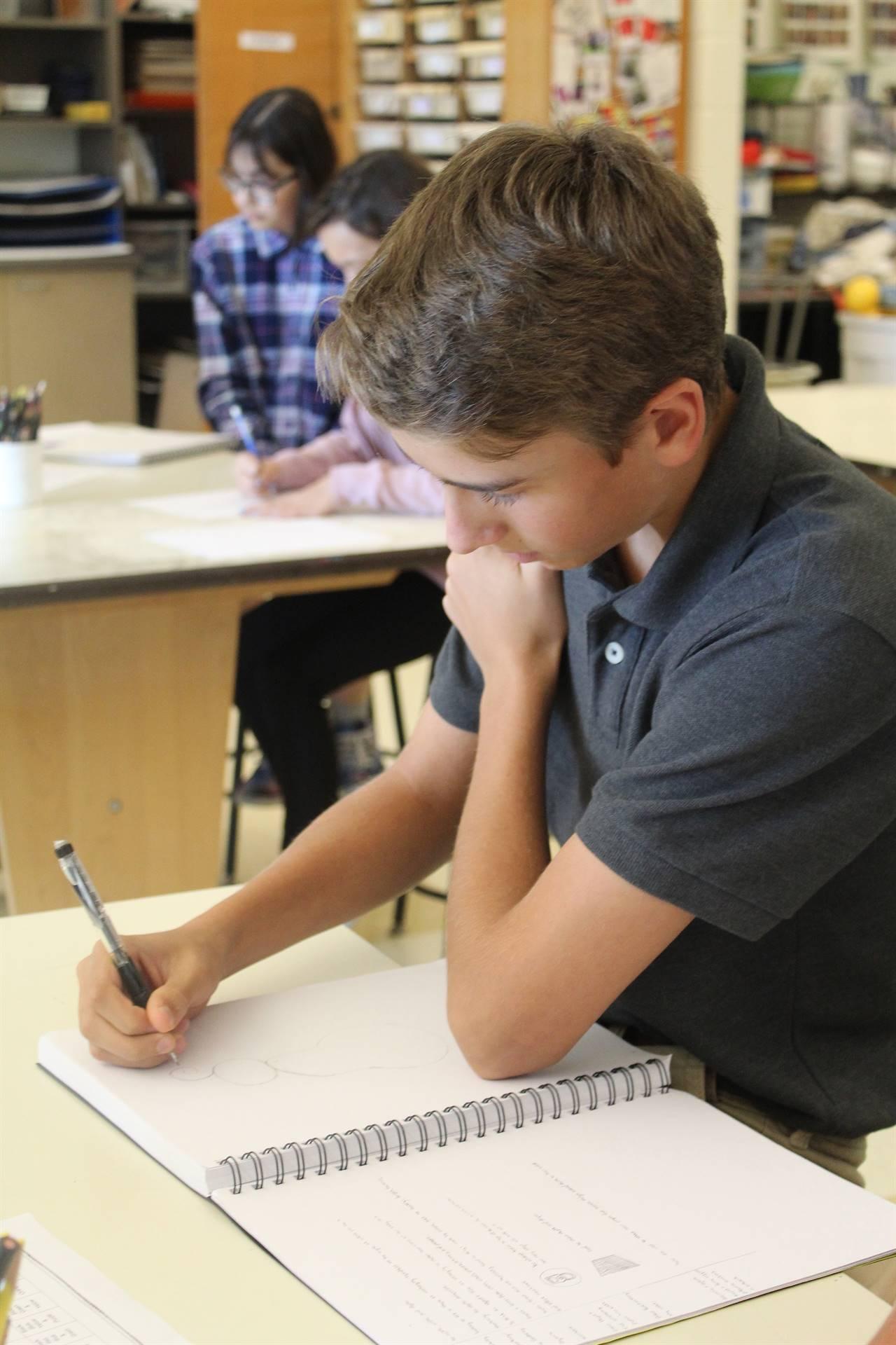 Boy-Drawing-Art-Class
