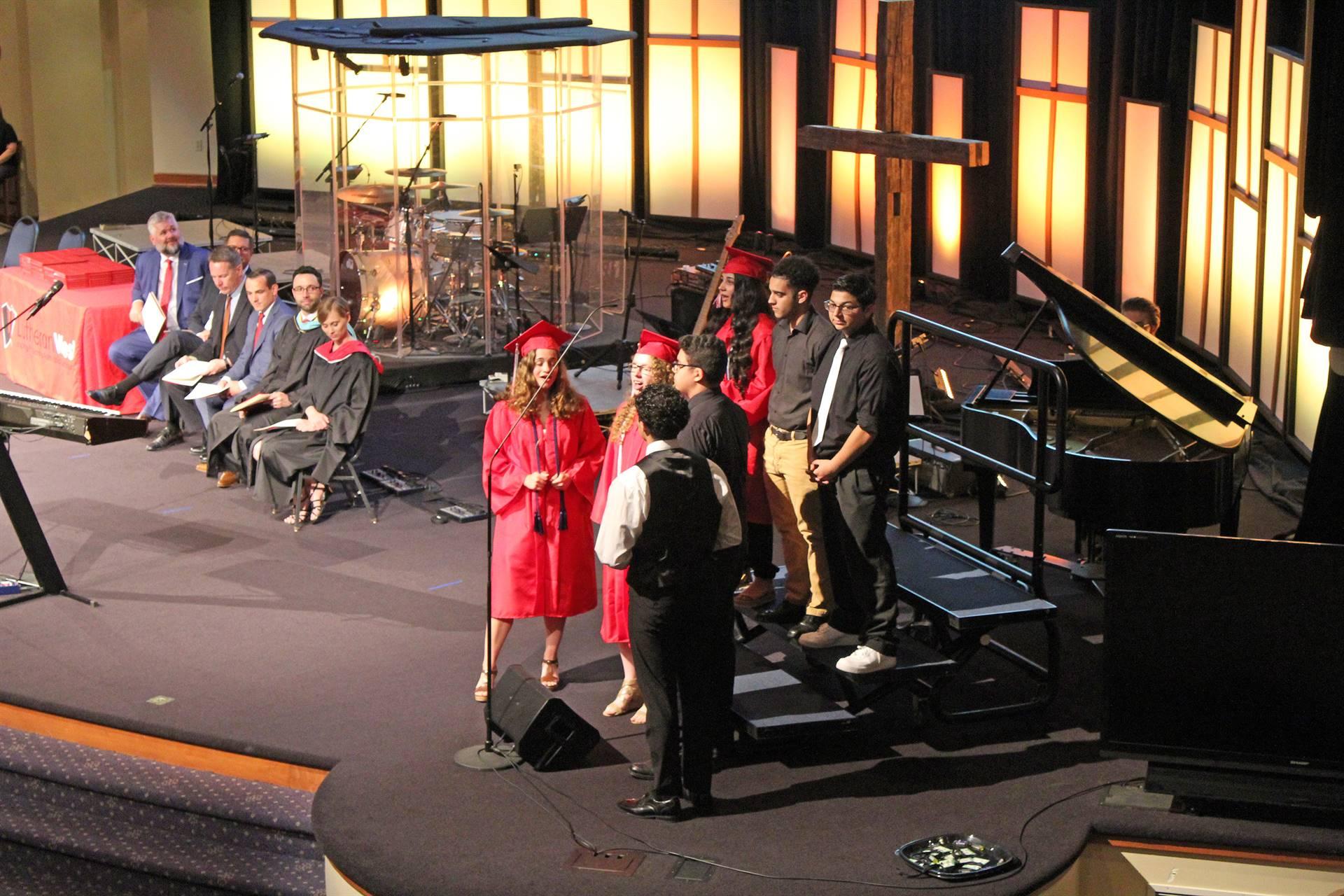 Singing-at-Graduation