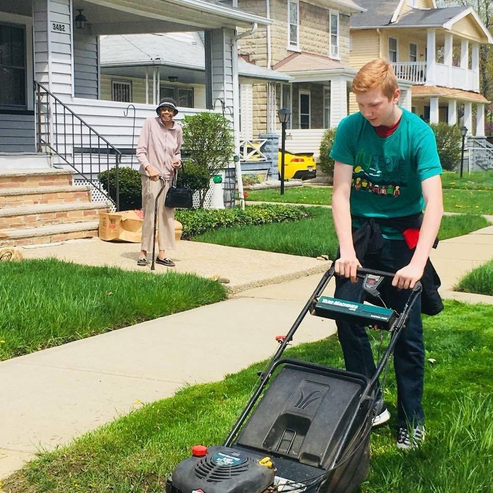Student-Mowing