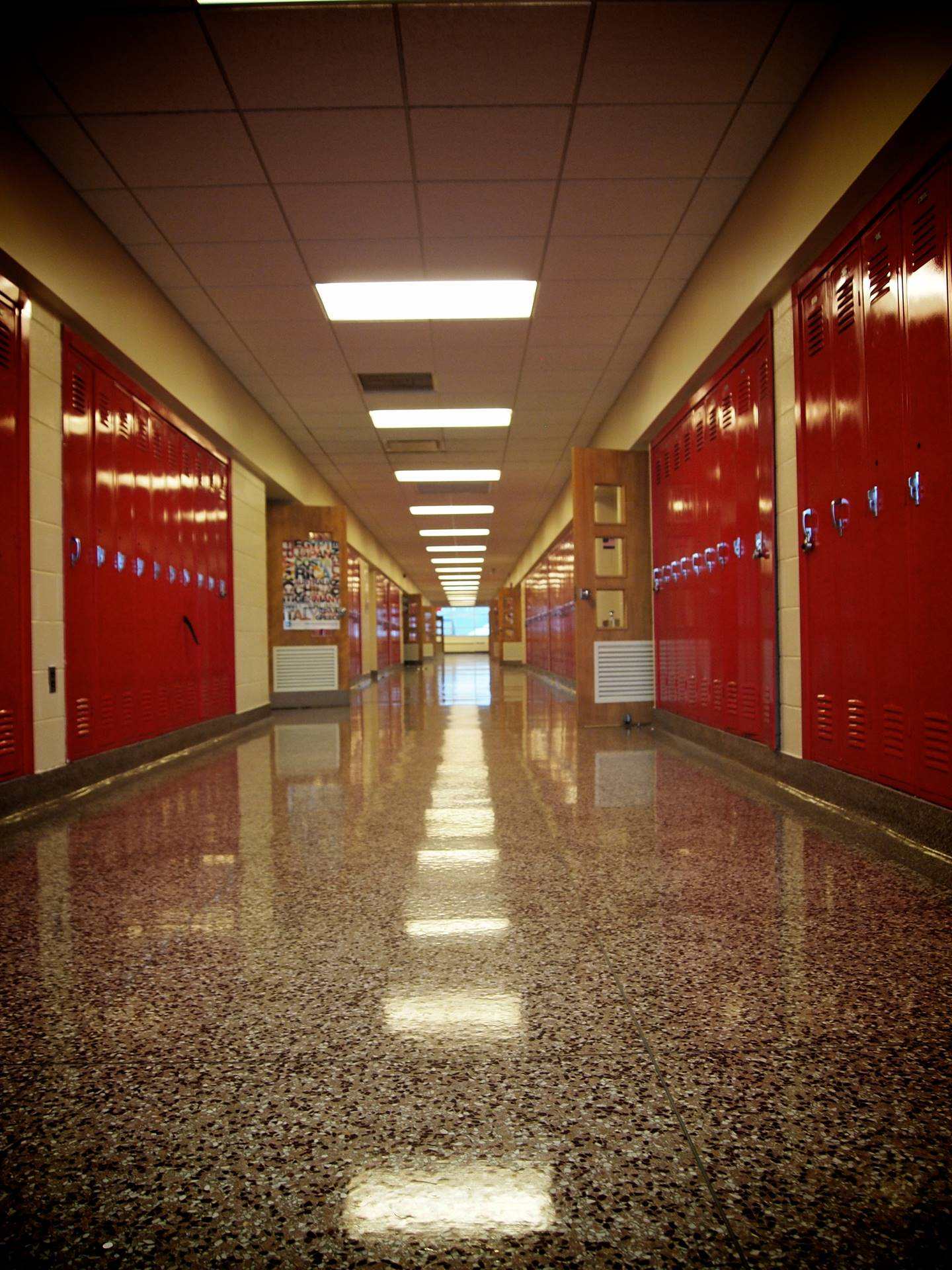 Lutheran-West-hallways