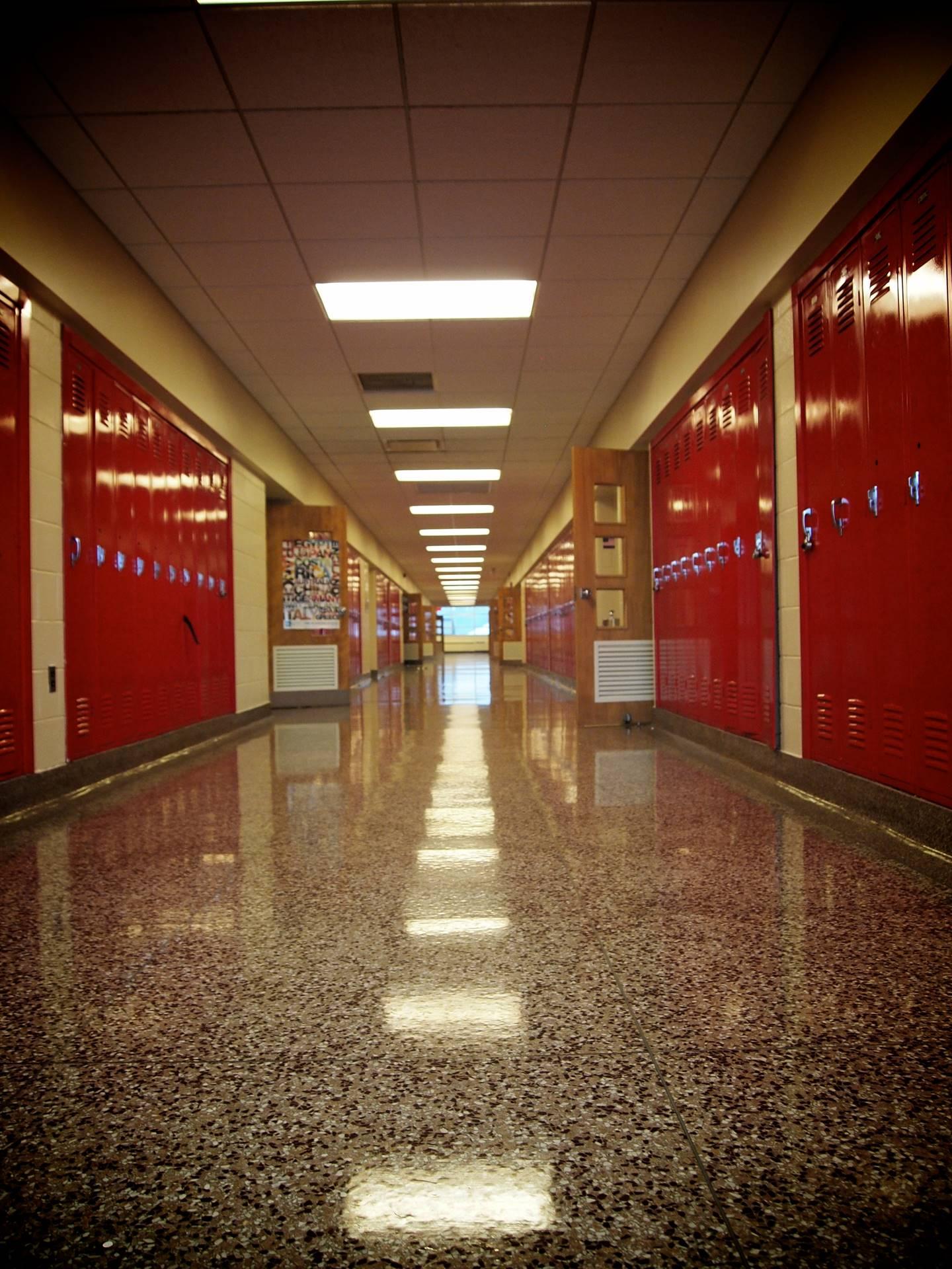 Lutheran-West-hallways
