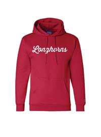 Longhorns Script Hoodie (Red)